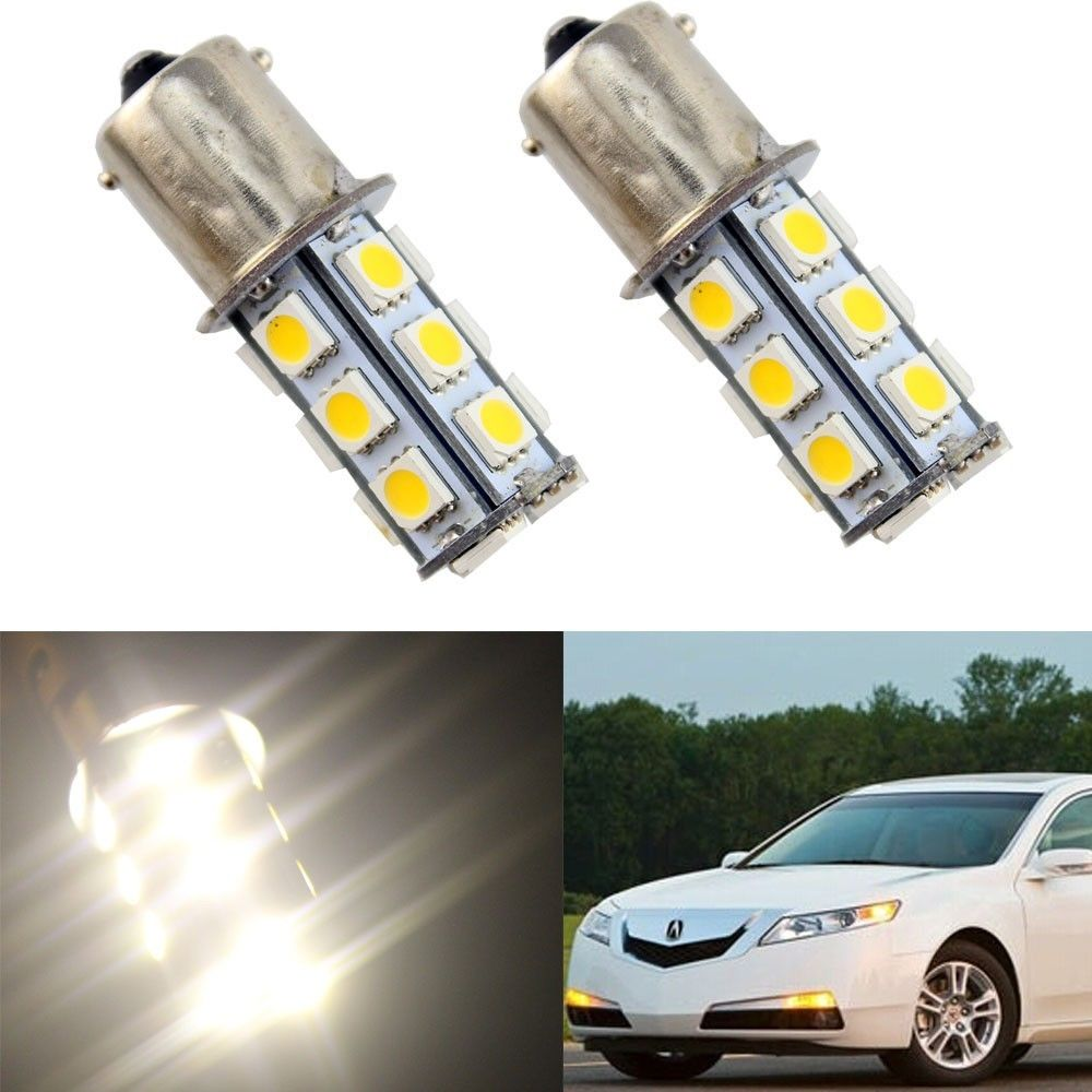 2x 1156 G18 Ba15s 27 5050 LED SMD Light Bulb White