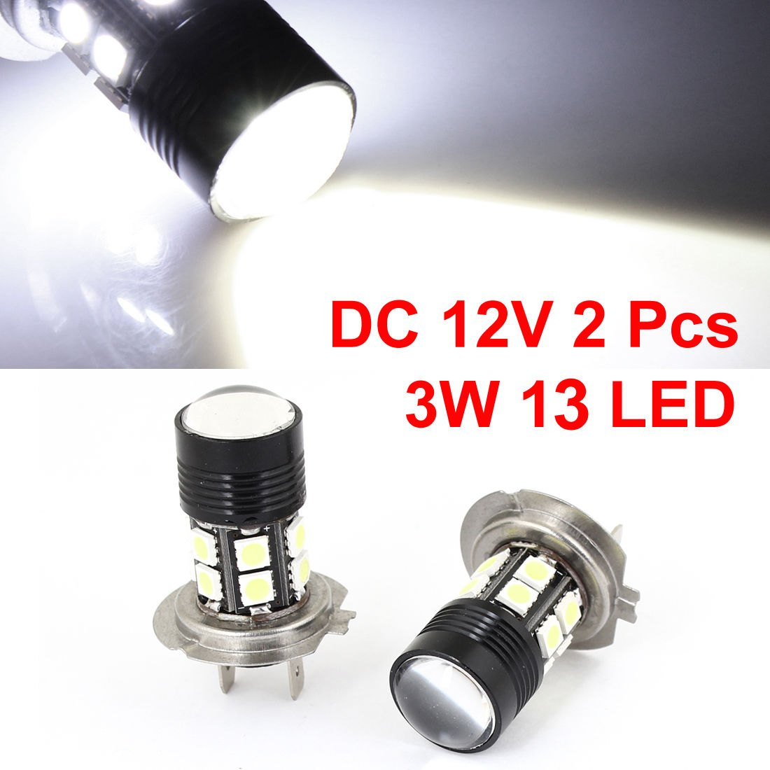 2 x H7 13 5050 SMD LED White Headlight Bulb Fog Light
