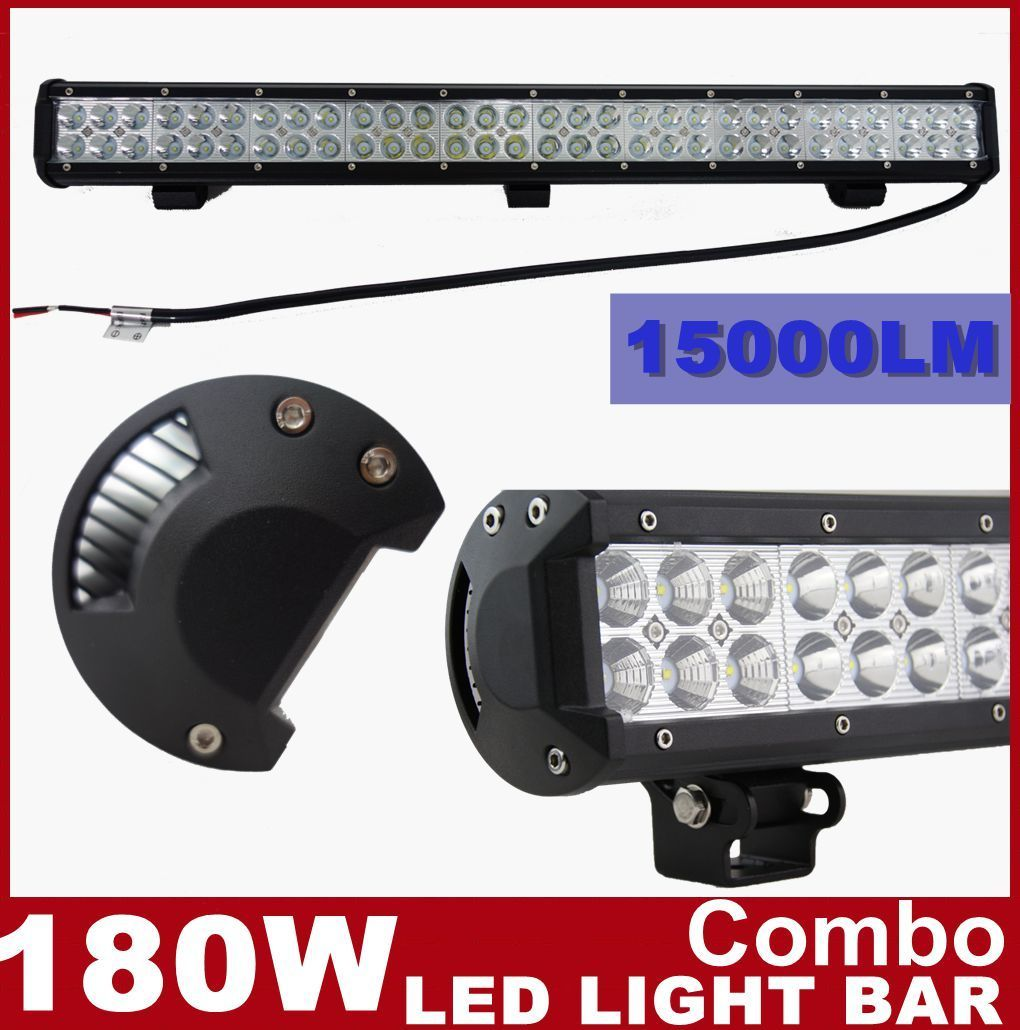 "28"" 180W LED Work Light Bar  COMBO SPOT FLOOD Offroad Driving"