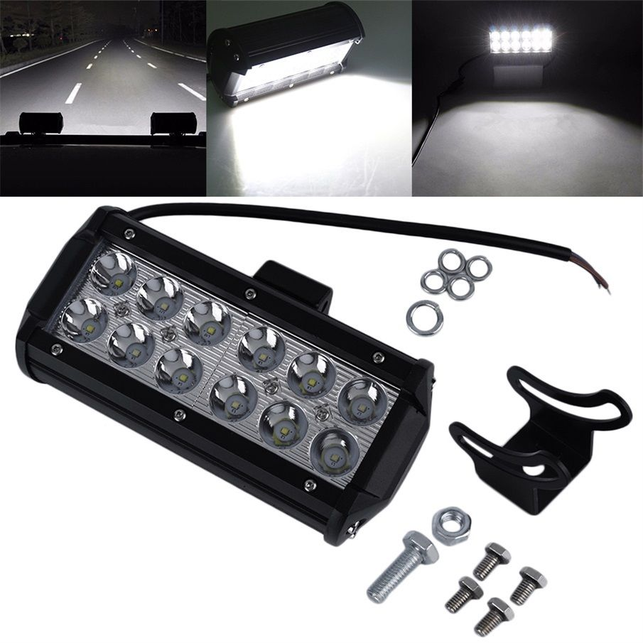 "7"" 36W LED Work Light Bar SPOT Beam Off road Driving Fog SUV"