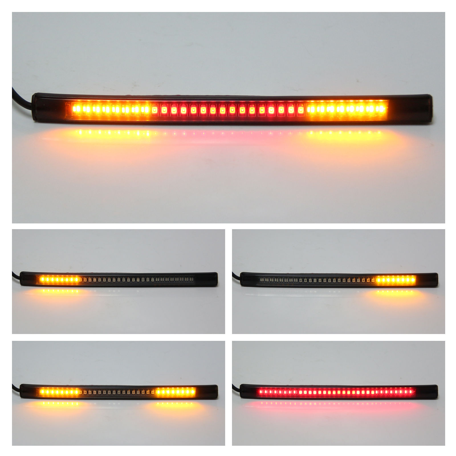 Flexible 48LED Motorcycle Light Strip Rear Tail Brake Stop Turn