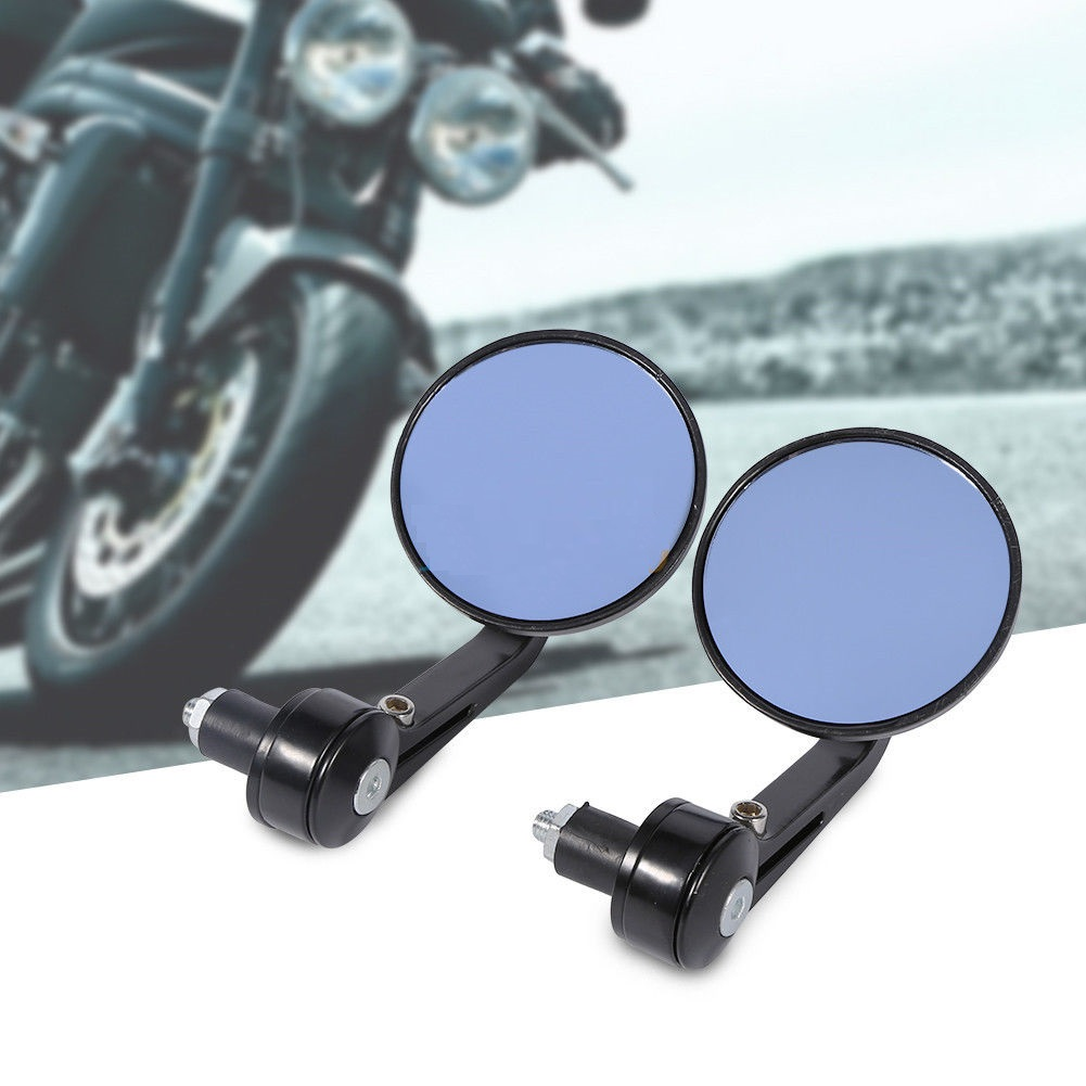 2 Pcs Universal Motorcycle Aluminium Handle Bar End Mirrors