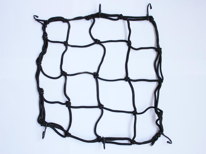 Cargo 6 Hooks Hold Down Net Bungee Black