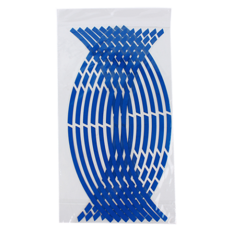 Reflective Stripes Sticker Wheel/Rim Decal Tape Blue