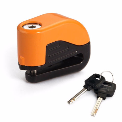 Motorcycle Motorbike Anti-theft Alarm Security Disc Brake Lock O