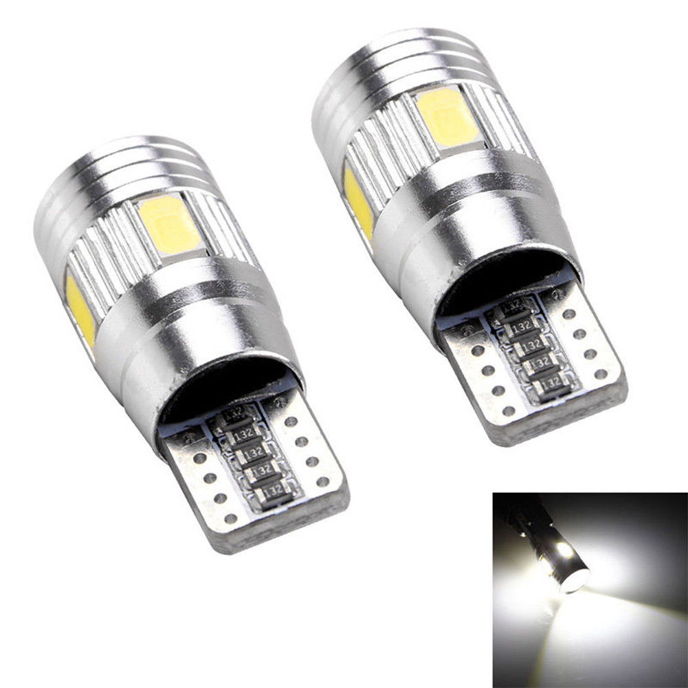 2 x t10 led error free canbus 6smd light bulbs 94 techparts. Black Bedroom Furniture Sets. Home Design Ideas
