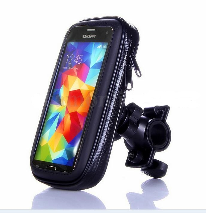 Motorcycle Handlebar Mount Waterproof Case Mobile/GPS 5.5""
