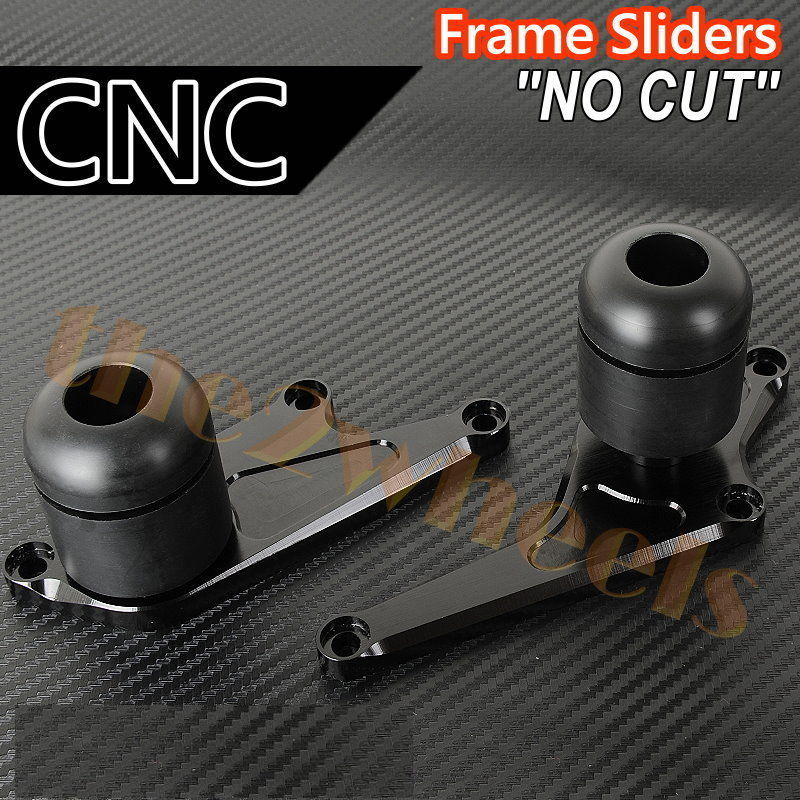 Frame Sliders Kawasaki Ninja ZX6R 09-12 Black (No CUT)
