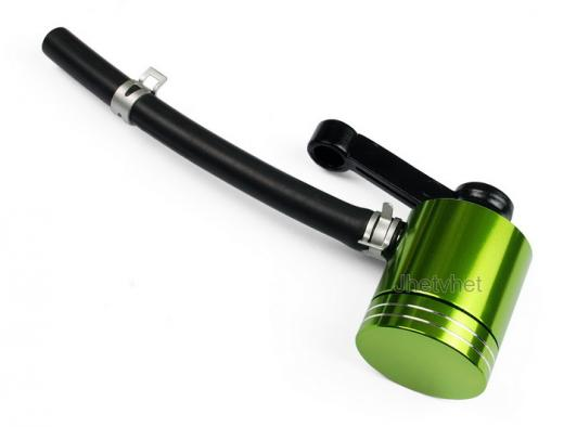Green Aluminum CNC Brake Clutch Fluid Reservoir