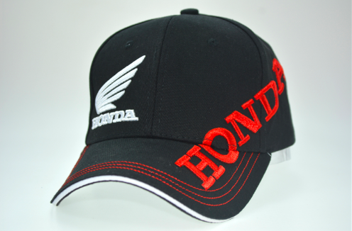 Moto GP Honda Motorcycle Embroidered Baseball Hat Blk