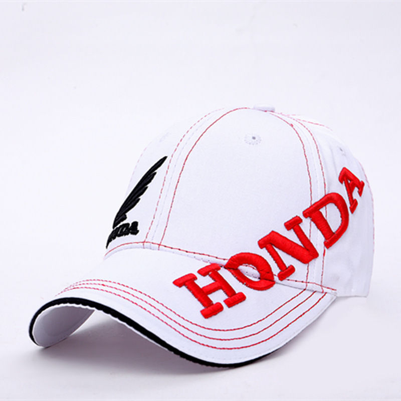 Moto GP Honda Motorcycle Embroidered Baseball Hat White