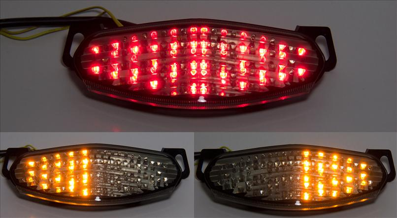 Integrated LED Tail Lights - TechParts:Integrated LED TailLight Turn Signals Ninja 650R/ER6 09-11,Lighting