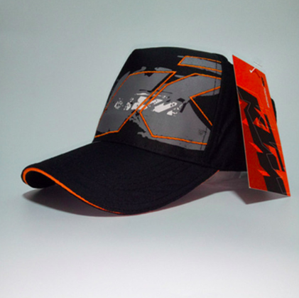 Moto GP KTM Motorcycle Embroidered Baseball Hat Black V2