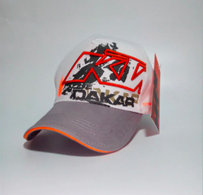 Moto GP KTM Motorcycle Embroidered Baseball Hat White