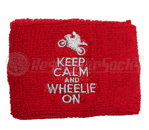 Reservoir Cover Sock Keep Calm Wheelie ON