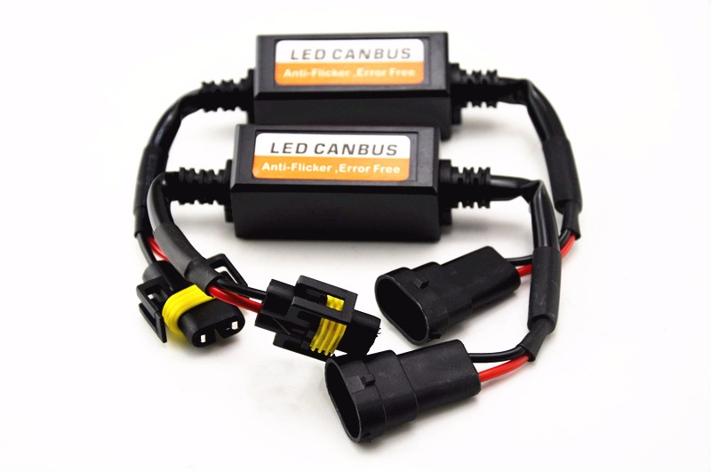 2 x H11 LED DRL Headlight Canbus Error Warning Canceller Decoder
