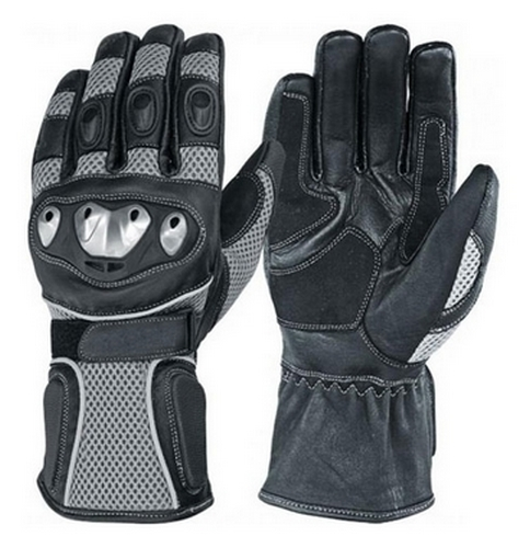 Kevlar Leather Waterproof Motorcycle Gloves Black/Grey L