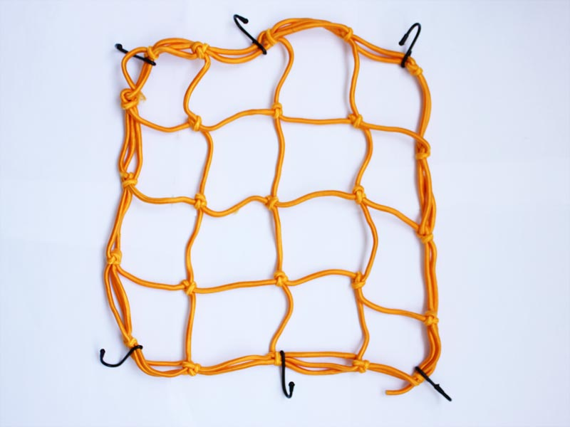 Cargo 6 Hooks Hold Down Net Bungee Orange