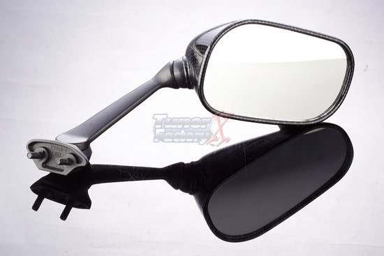 Mirrors yamaha r6 r1 08 15 carbon techparts for Yamaha r6 aftermarket mirrors