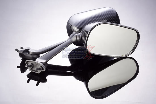 Mirrors for Yamaha R6 R1 08-15 Carbon