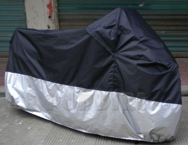 MotorcycleOutdoor Waterproof Rain Dust Cover L Black