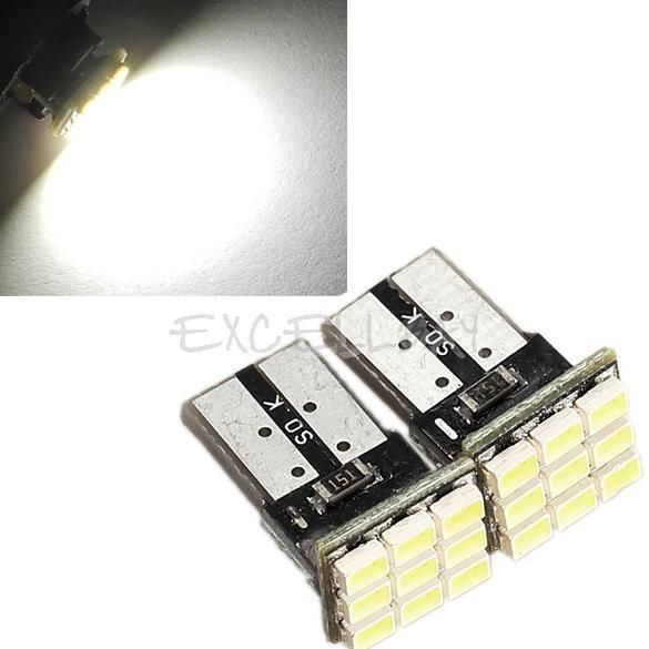 2 x T10 194 168 W5W 9 SMD 9-SMD Car LED License Plate Light