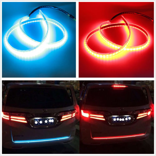 120cm Universal Dual Color Car Rear Tail Box Brake Turn Signal