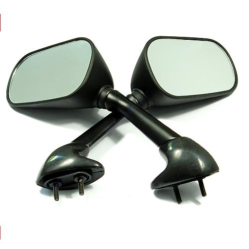 Mirrors yamaha r6 r1 04 06 black techparts for Yamaha r6 aftermarket mirrors