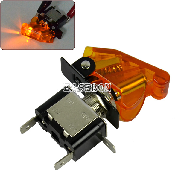 LED Toggle Yellow Switch with Yellow Cover