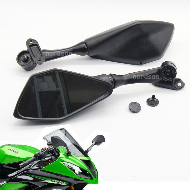 Mirrors for Kawasaki ZX6R 300R 13-17 Black